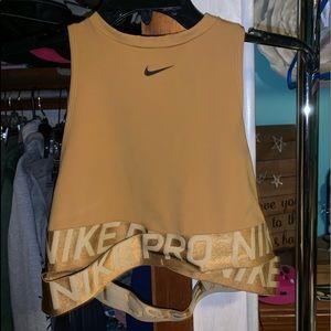 Nike workout crop top